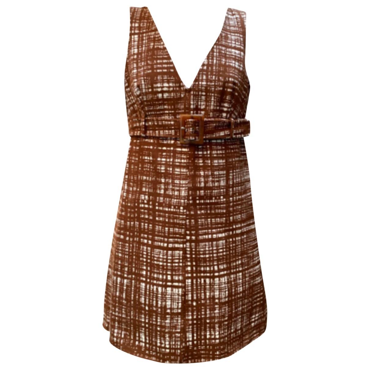 Prada \N Kleid in  Braun Polyester