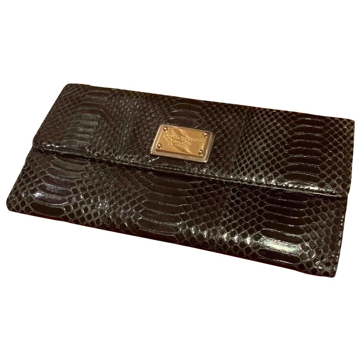 Dolce & Gabbana \N Portemonnaie in  Schwarz Python