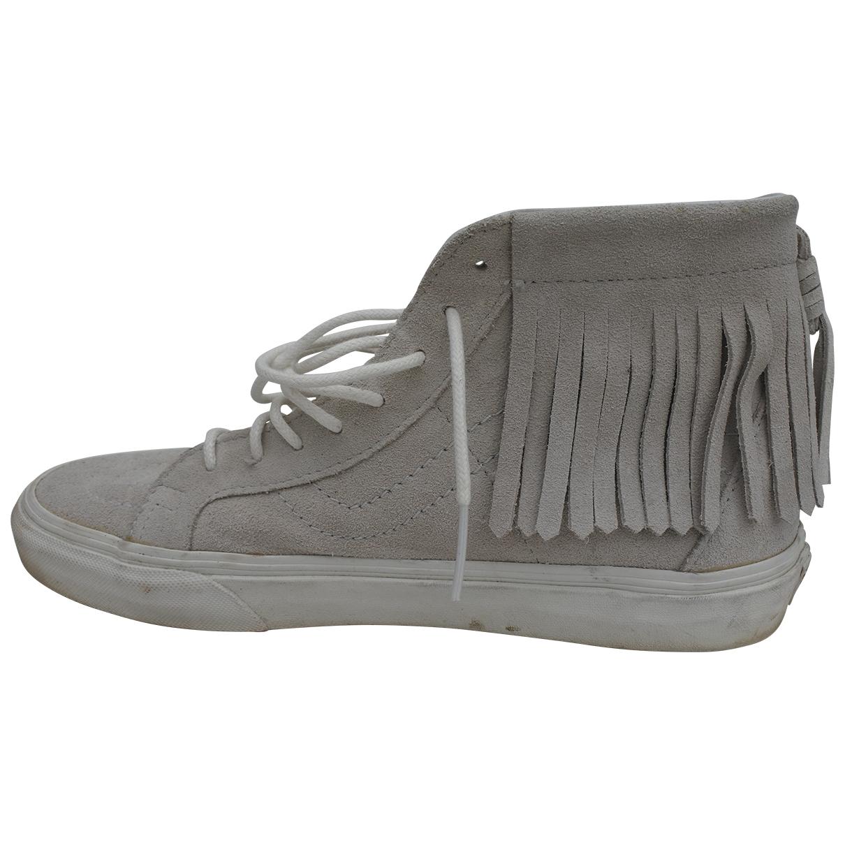 Vans - Baskets   pour femme en suede - gris