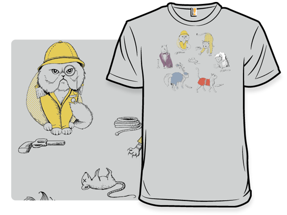 Cats With Weapons Remix T Shirt