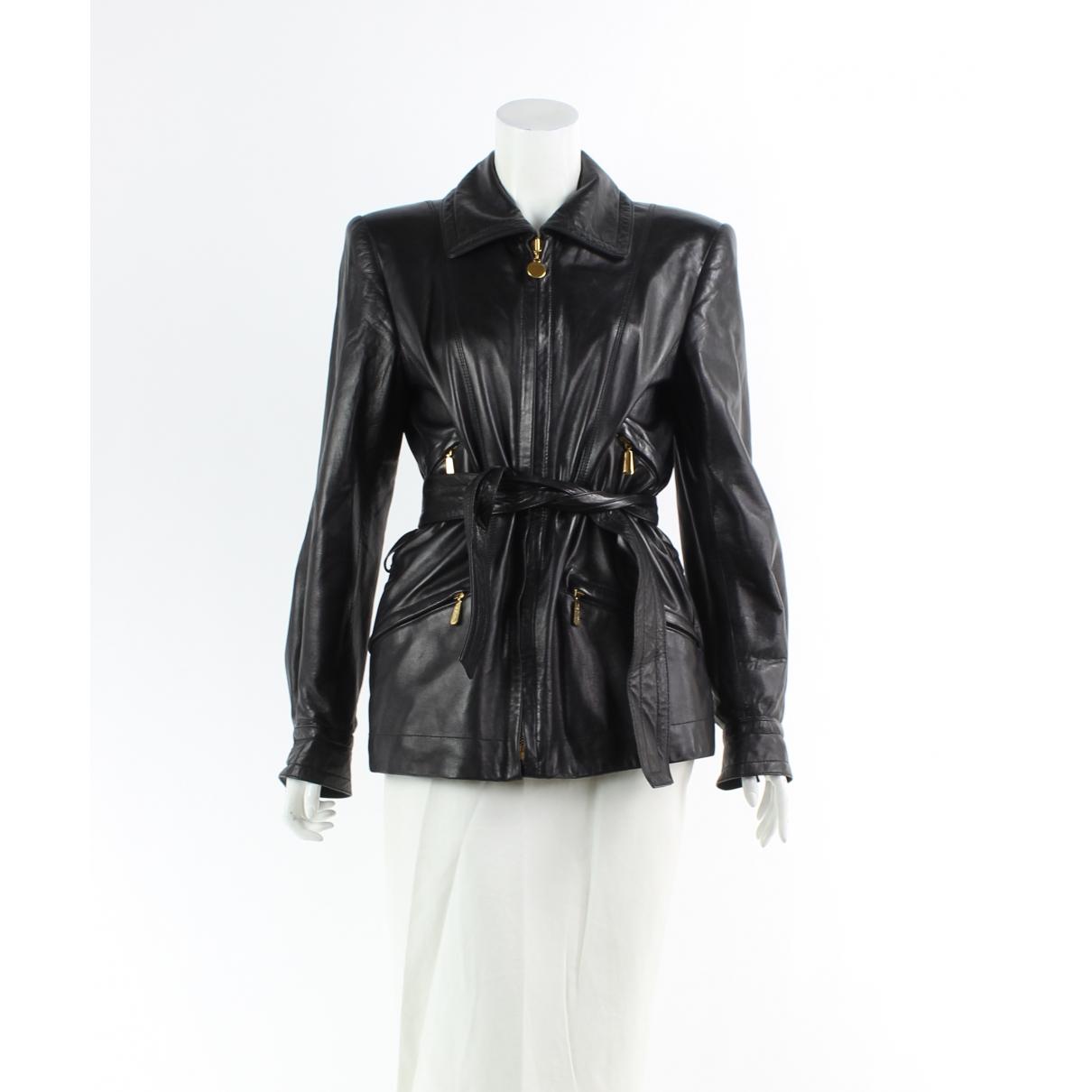 Autre Marque \N Black Leather jacket for Women 34 FR