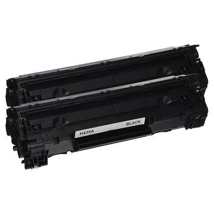 Compatible HP 35A CB435A cartouche de toner noire - boite economique - 2/paquet