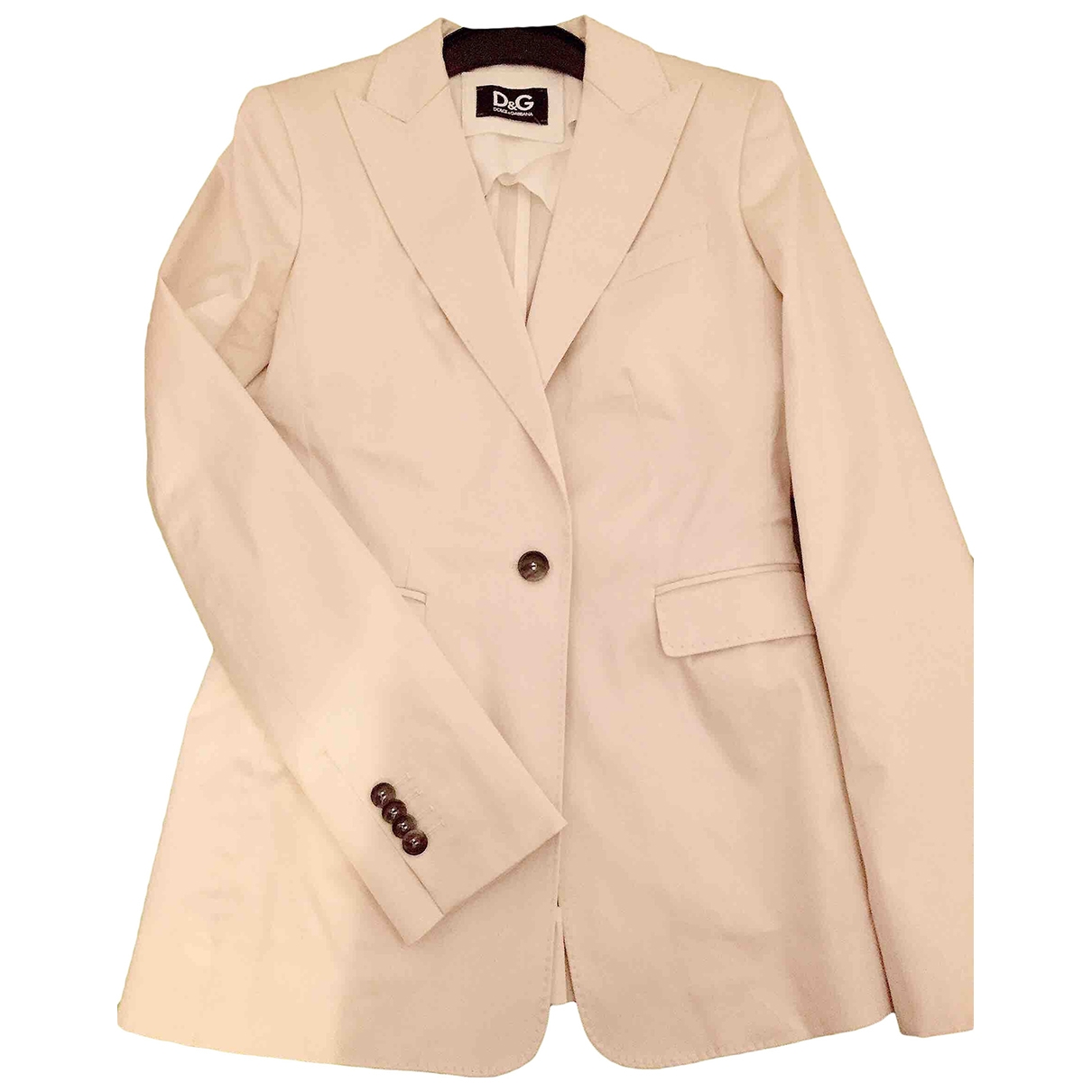 D&g \N White Cotton jacket for Women 40 IT
