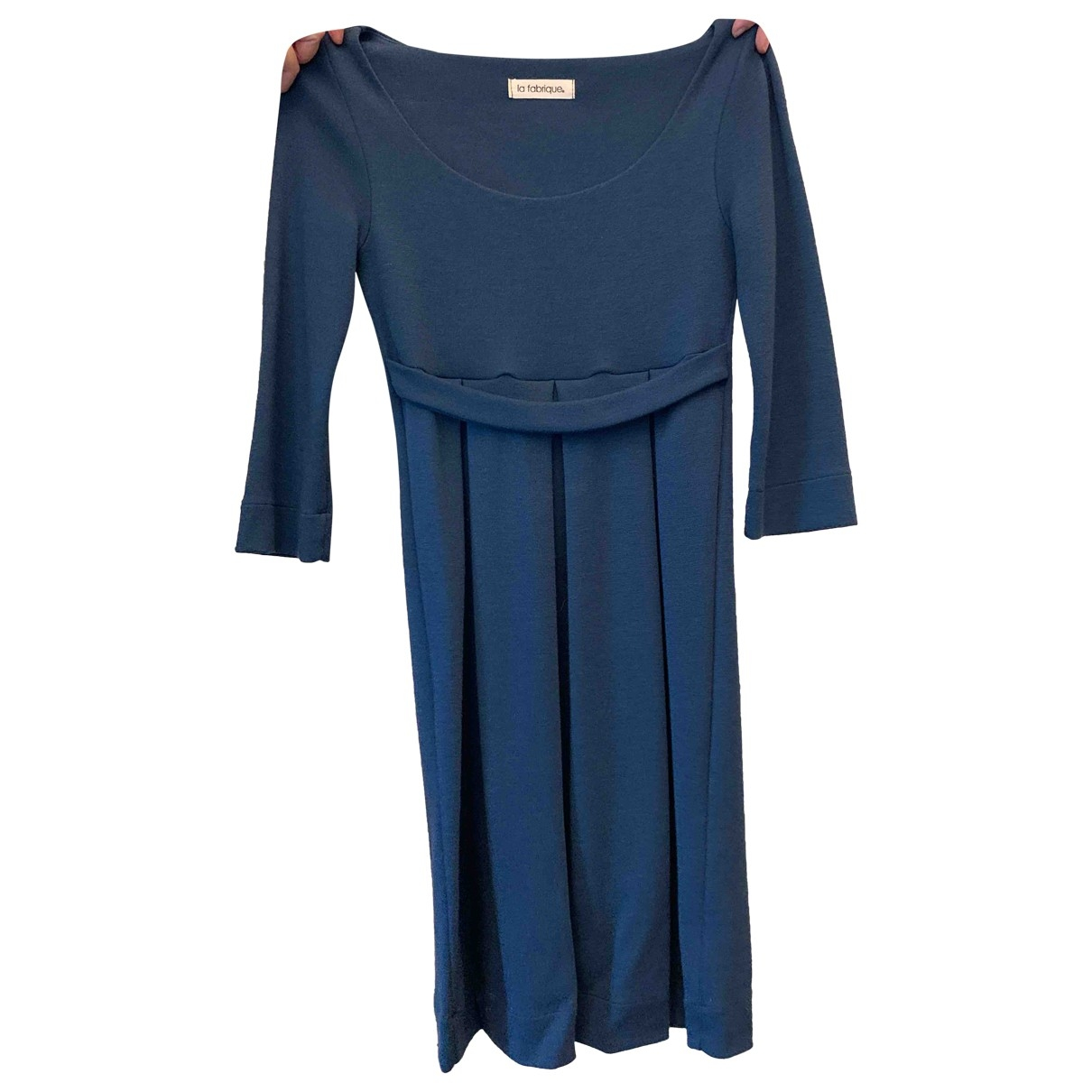 Non Signé / Unsigned \N Blue Cotton dress for Women XS International