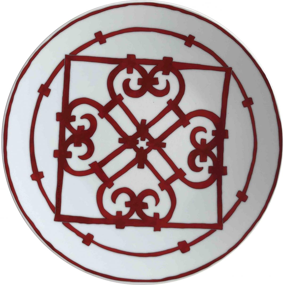 Hermes Balcon du Guadalquivir Tischkultur in  Rot Porzellan