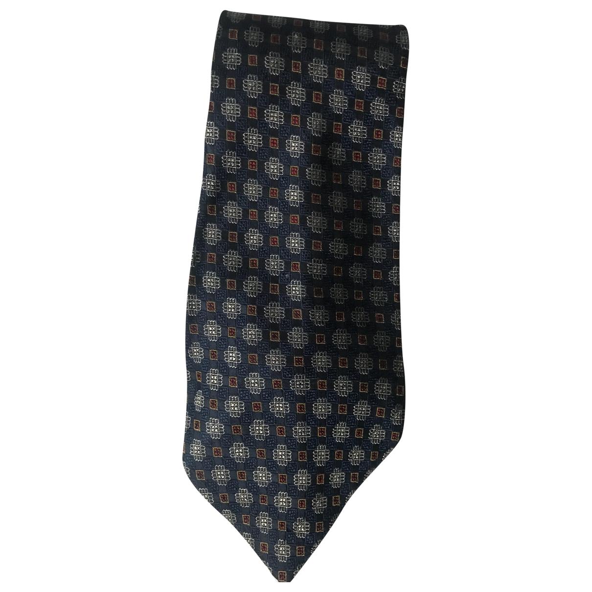 Fendi \N Navy Silk Ties for Men \N