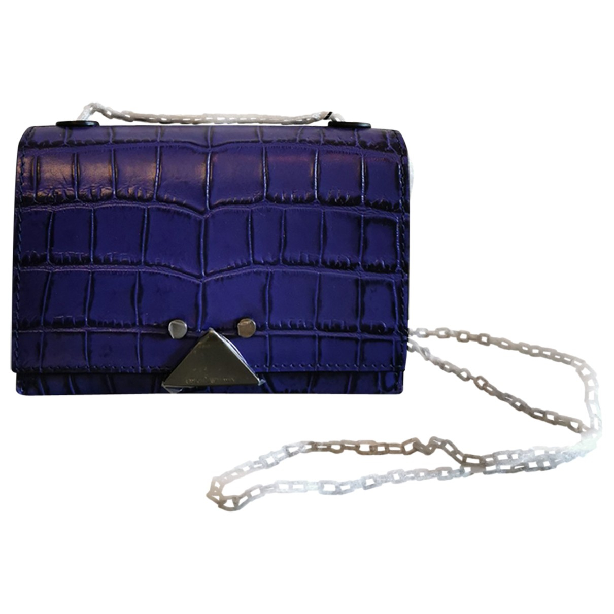Emporio Armani \N Handtasche in  Lila Leder