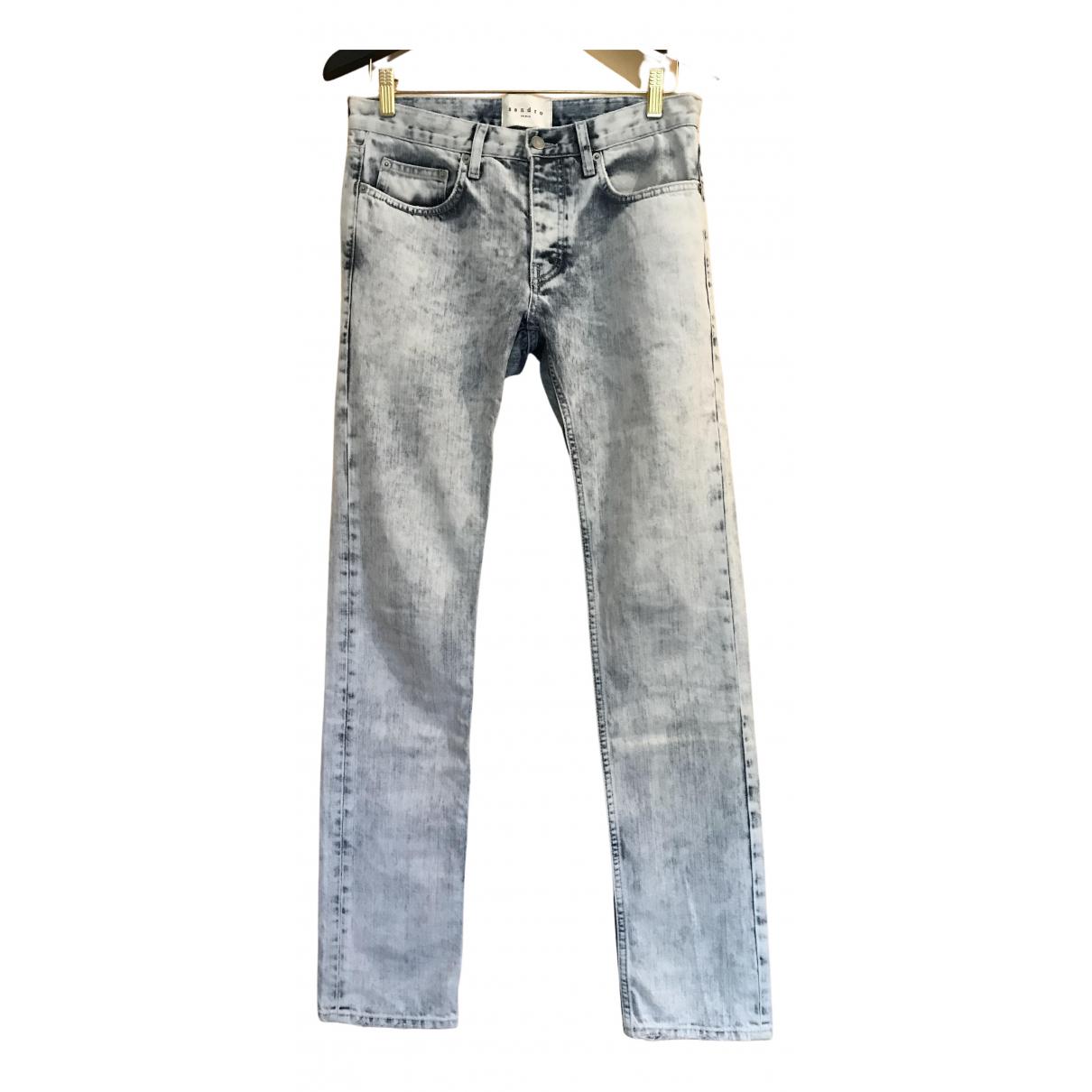 Sandro N Blue Cotton Jeans for Men 29 US