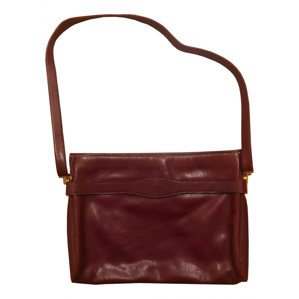 Dior \N Handtasche in  Bordeauxrot Leder
