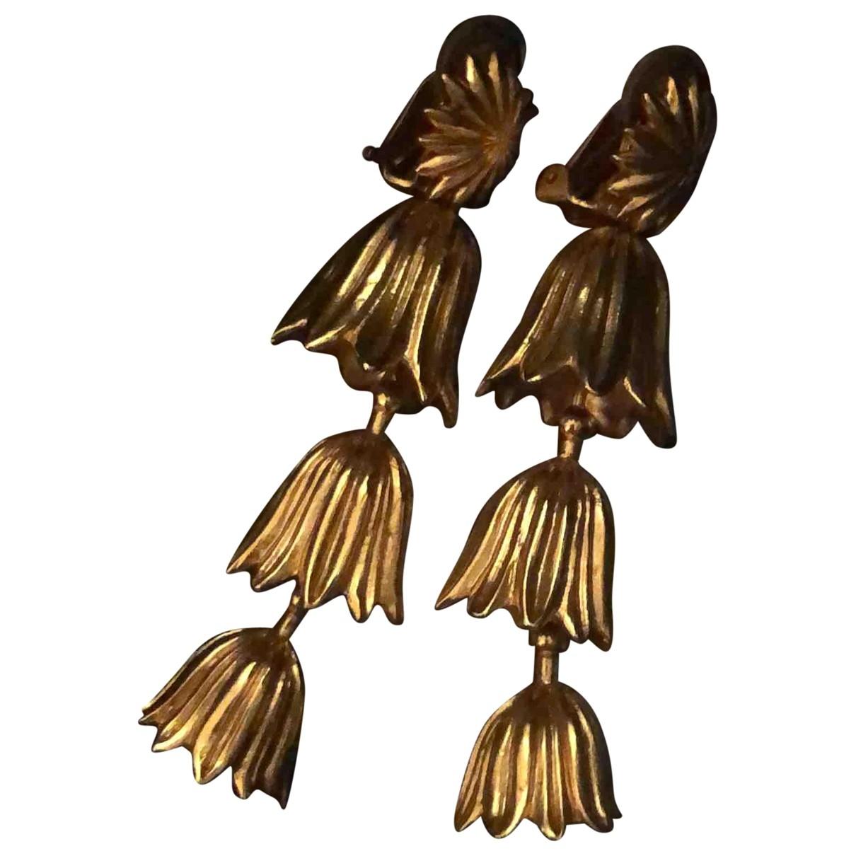 Oscar De La Renta \N OhrRing in  Gold Metall