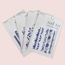 4sheets Flower Pattern Nail Sticker