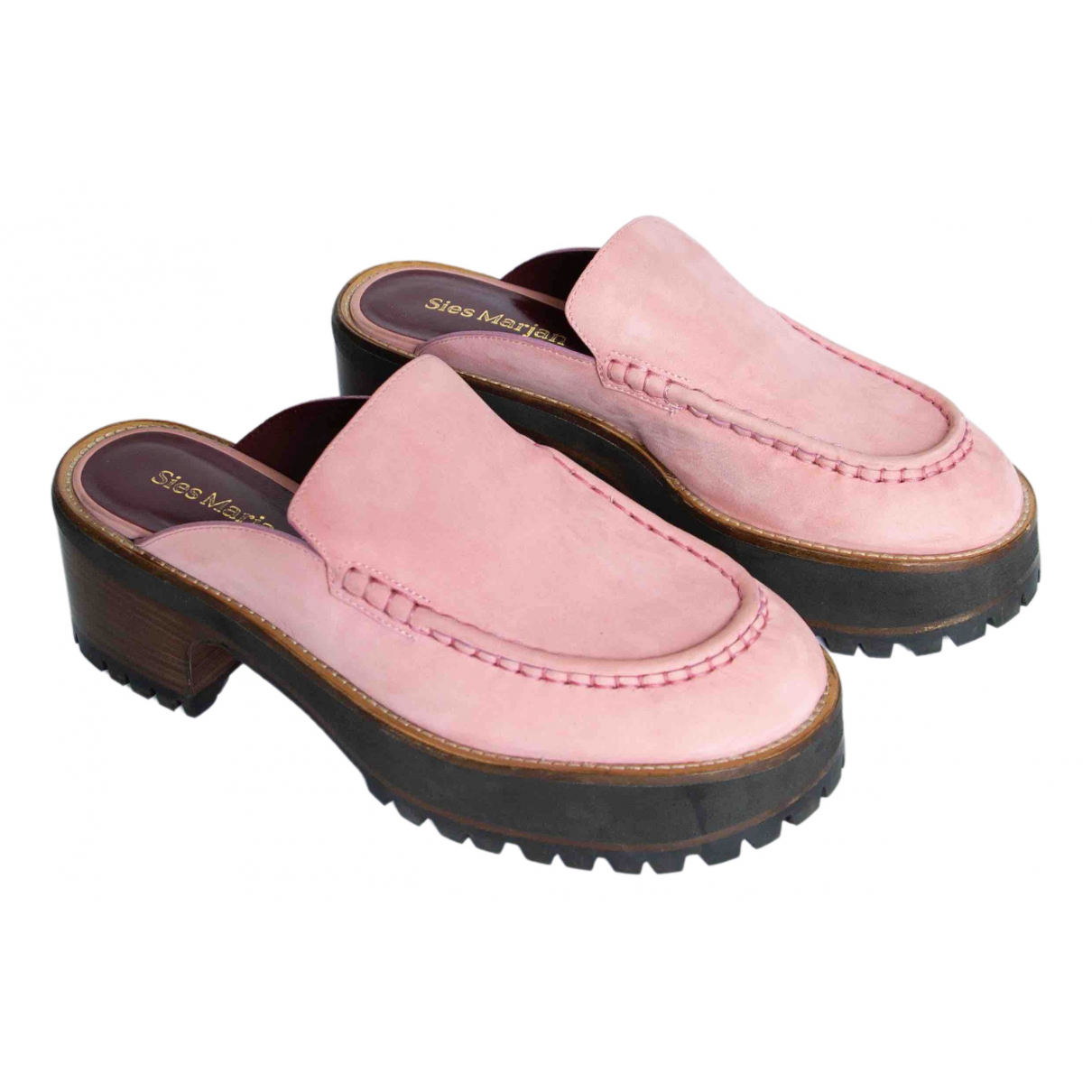 Sies Marjan \N Pink Suede Mules & Clogs for Women 40 EU