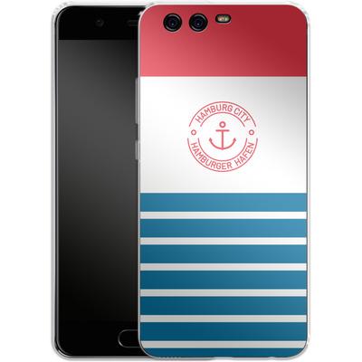 Huawei P10 Silikon Handyhuelle - Hamburger Hafen von caseable Designs