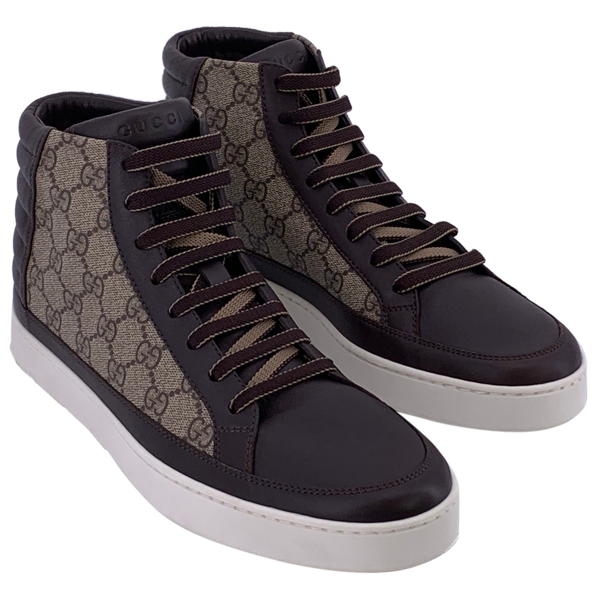 Gucci N Brown Leather Trainers for Men 9 UK