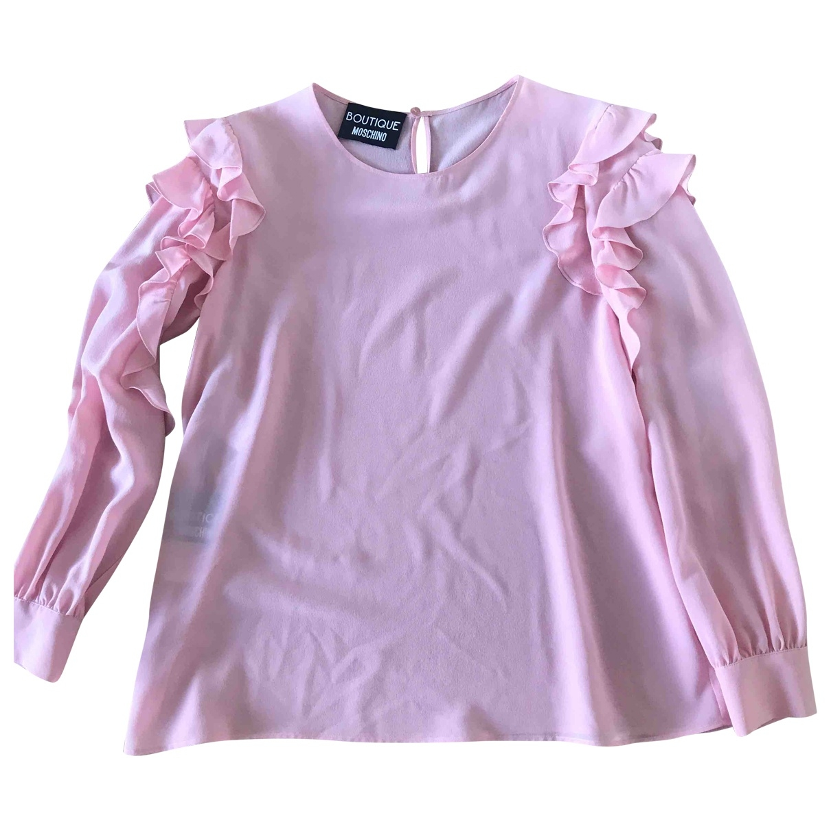 Moschino \N Pink Silk  top for Women 44 IT
