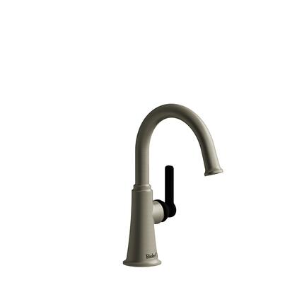 Momenti MMRDS00JBNBK-05 Single Hole Lavatory Faucet with J Lever Handle without Drain 0.5 GPM  in Brushed