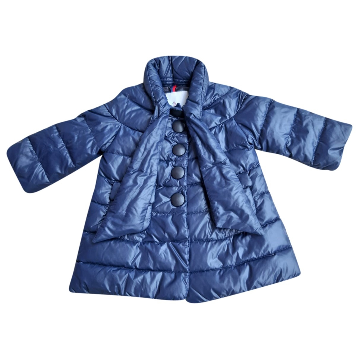 Moncler Long Jacke, Maentel in  Blau Polyester