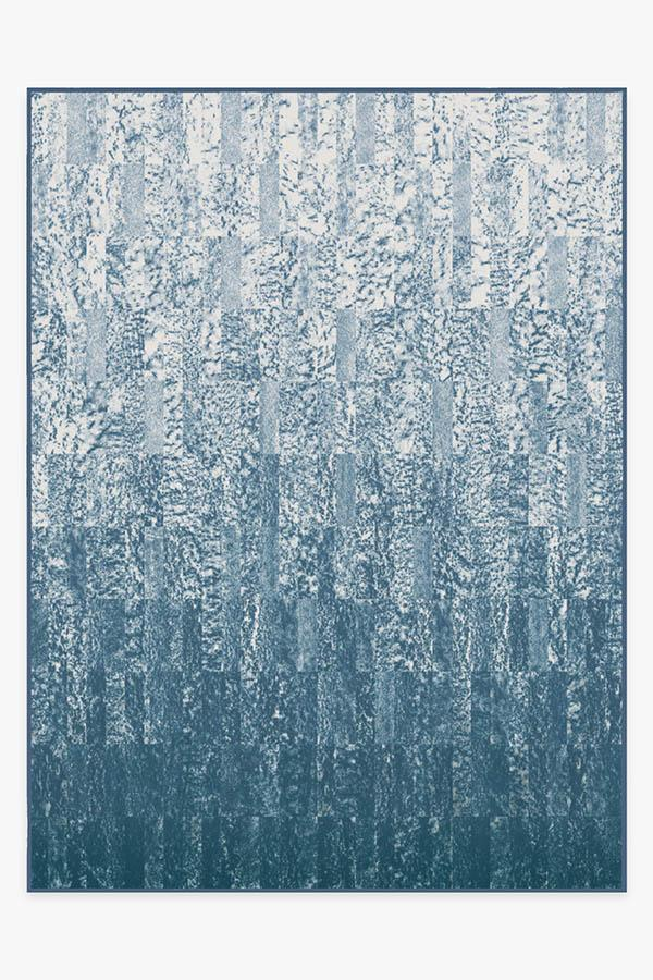 Washable Rug Cover | Granite Ombre Slate Blue Rug | Stain-Resistant | Ruggable | 9'x12'