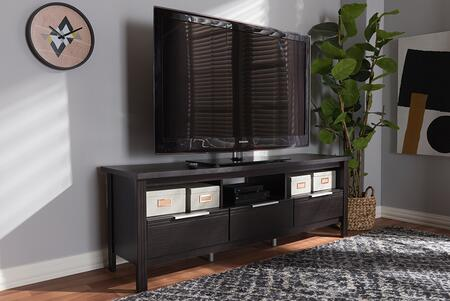 MH8123-WENGE-TV Baxton Studio Elaine Modern and Contemporary Wenge Brown Finished TV