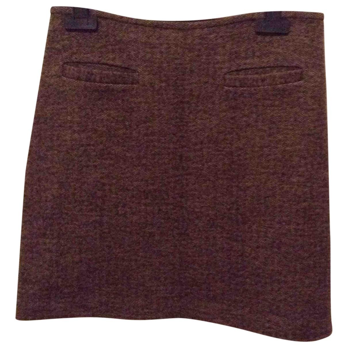 Agnes B. - Jupe   pour femme en laine - marron