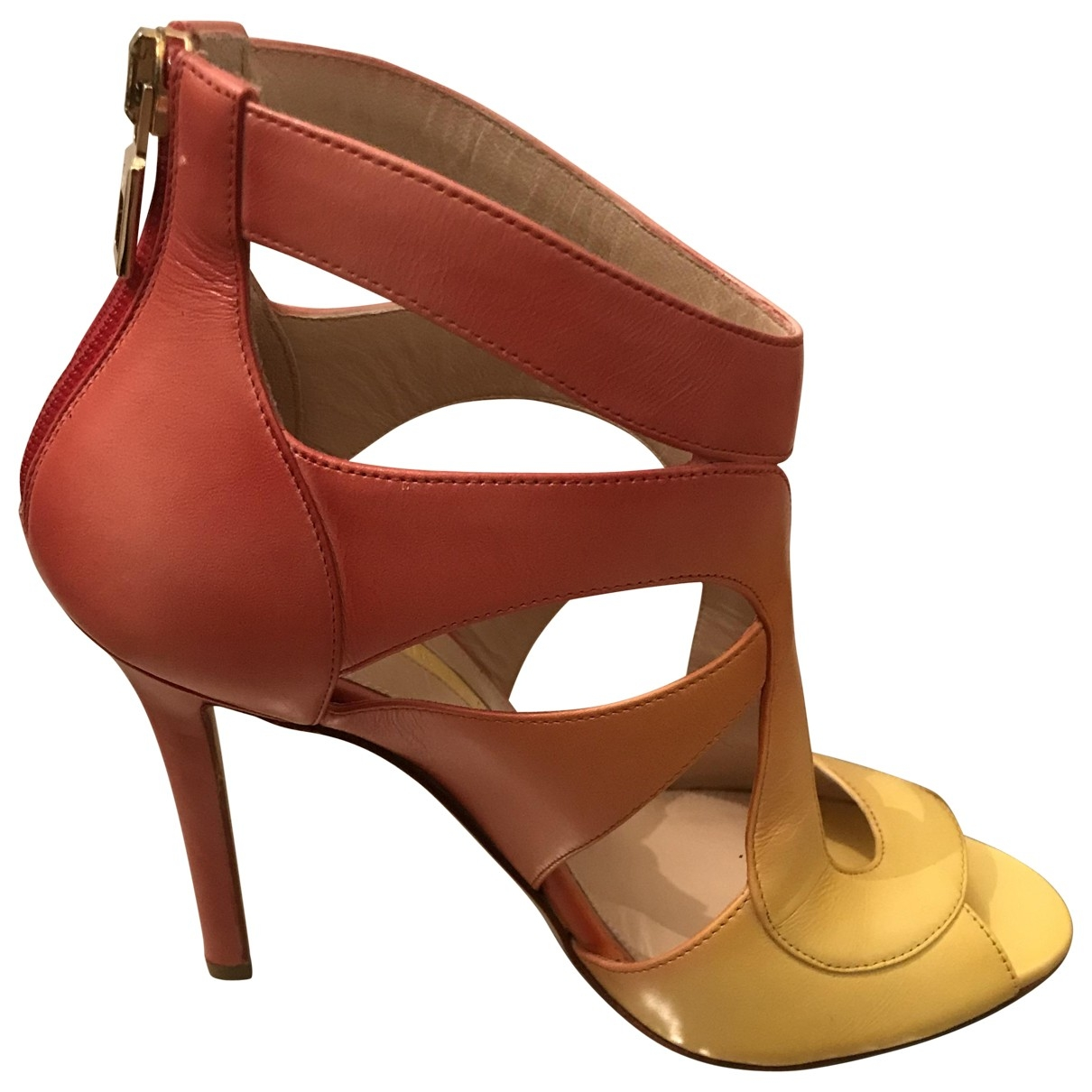 Elie Saab \N Yellow Leather Sandals for Women 35 EU