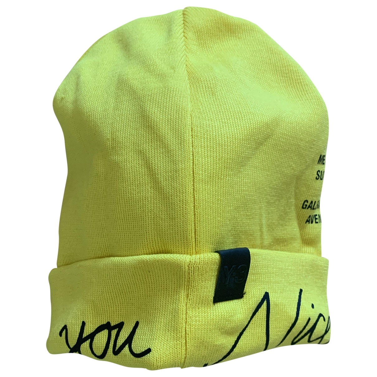 Y-3 By Yohji Yamamoto - Chapeau & Bonnets   pour homme en coton - jaune
