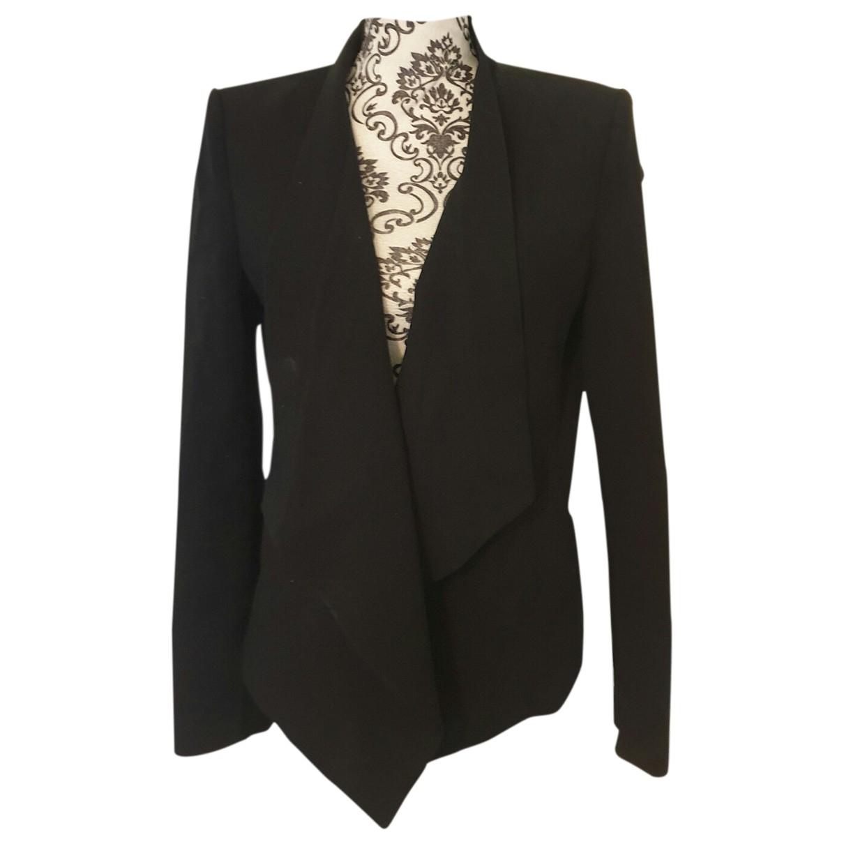 Bcbg Max Azria N Black Cotton jacket for Women 38 FR