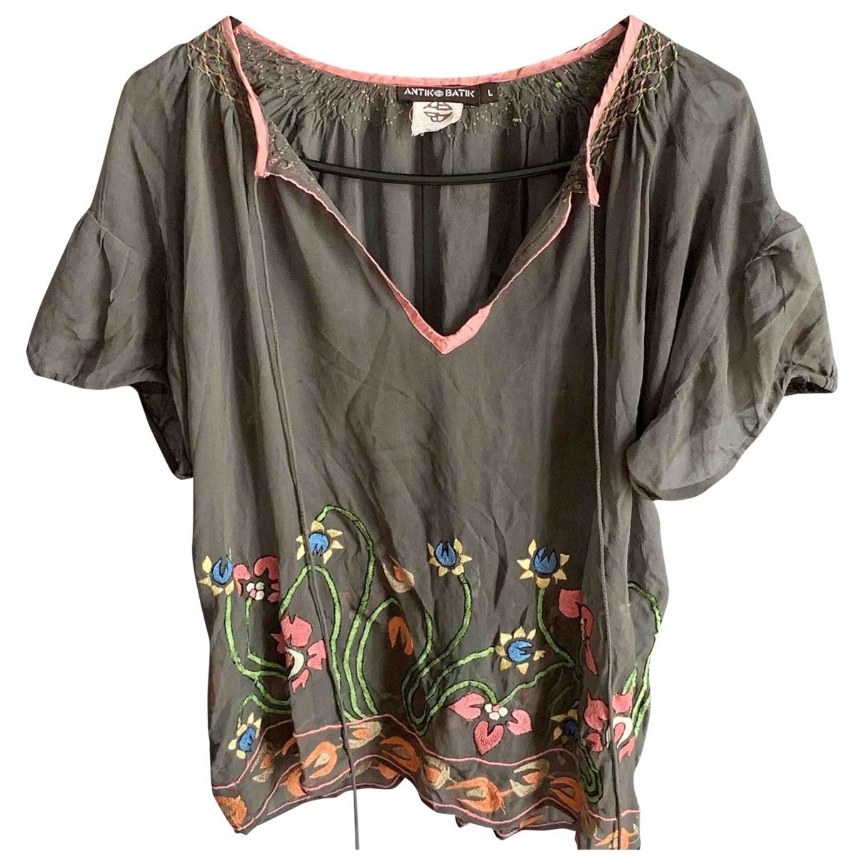 Antik Batik \N Khaki Silk  top for Women L International