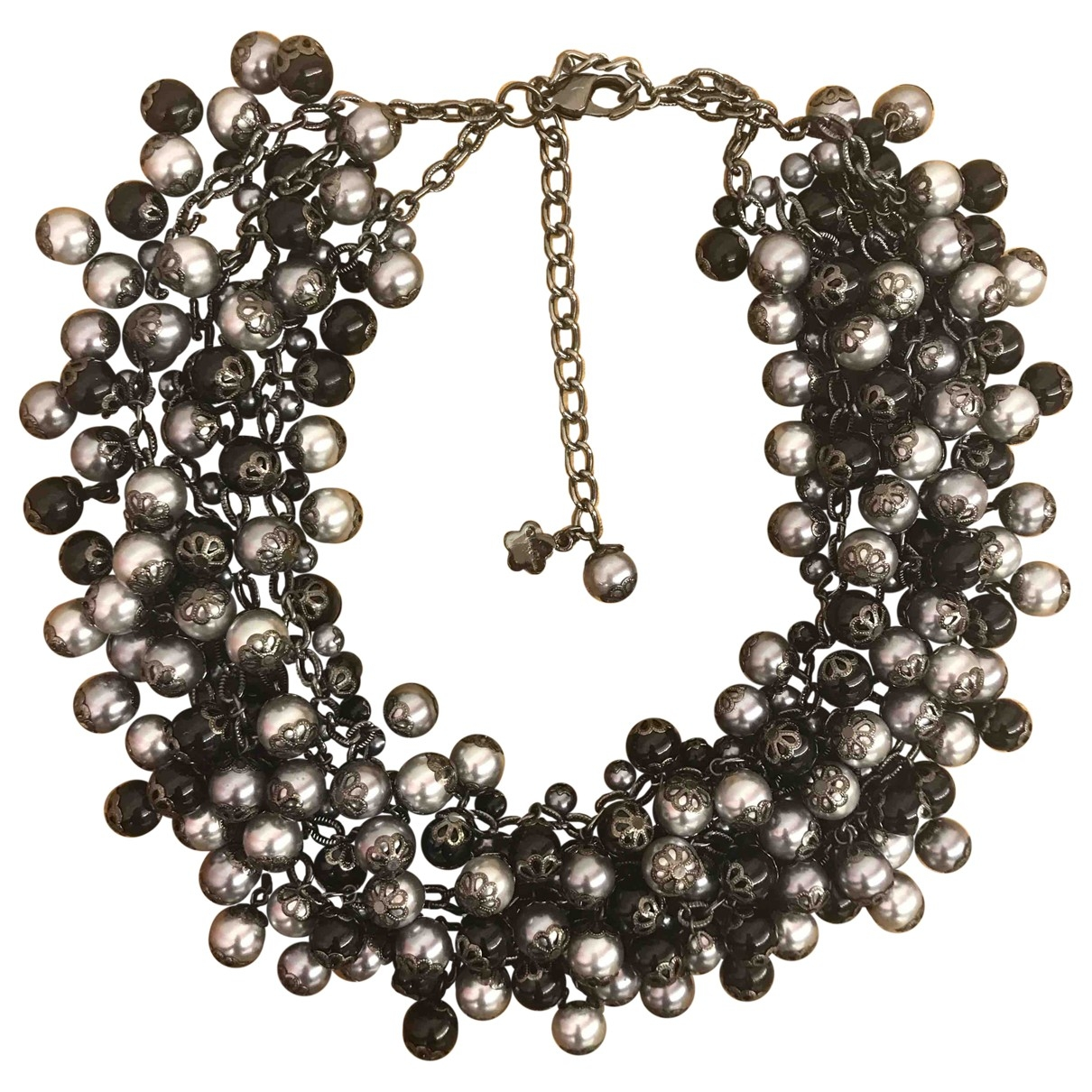 Non Signé / Unsigned Art Déco Grey Pearls necklace for Women \N