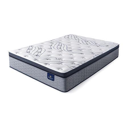 Serta Perfect Sleeper Elmcrest Plush Pillowtop - Mattress Only, One Size , Blue