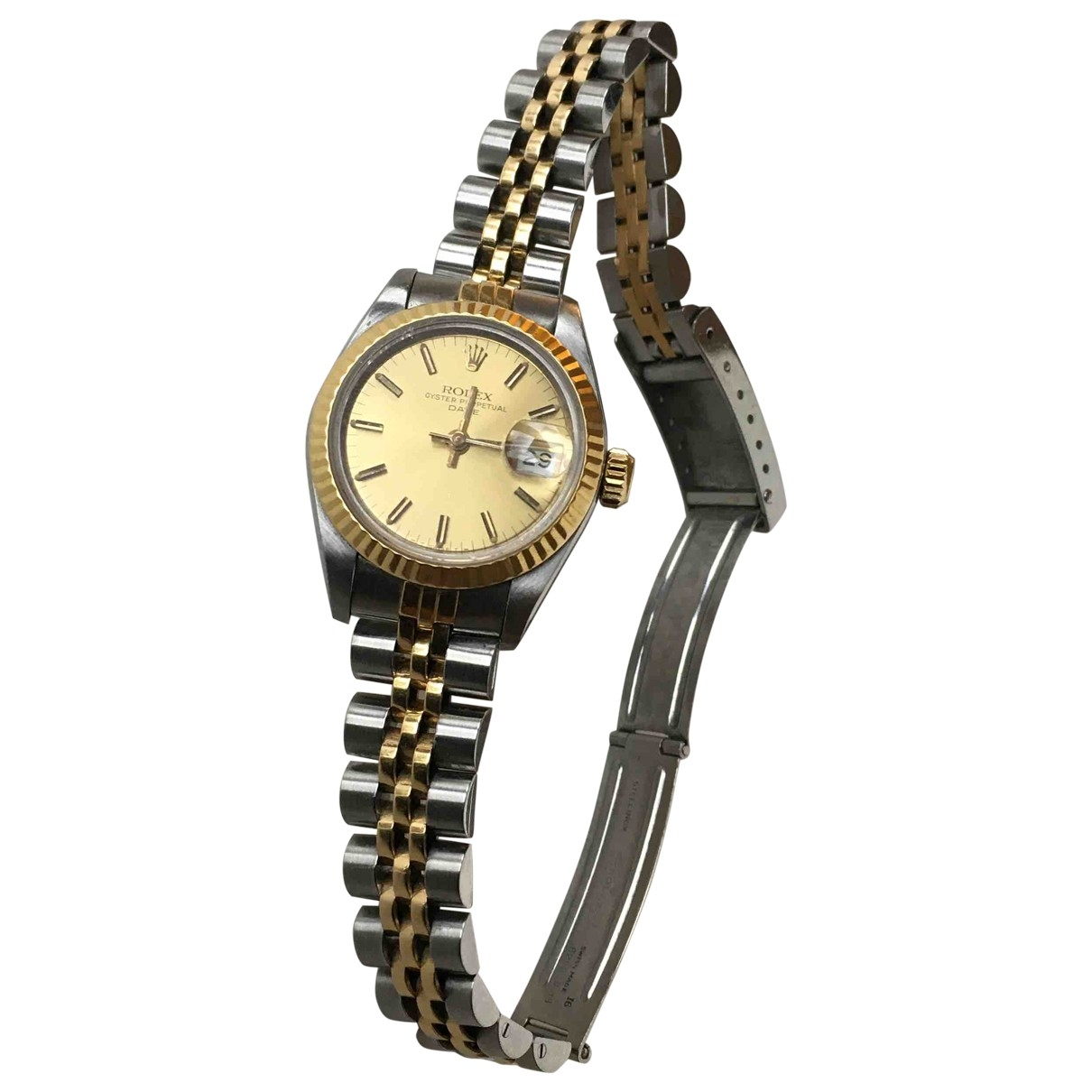 Rolex Lady Oyster Perpetual 26mm Gold gold and steel watch for Women \N