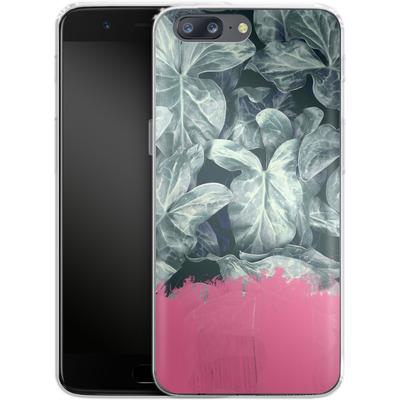 OnePlus 5 Silikon Handyhuelle - Sweet Pink on Jungle von Emanuela Carratoni