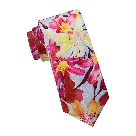 JF J.Ferrar Prom Tie, One Size , Pink