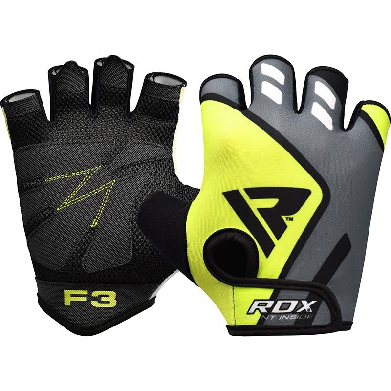 RDX F3 Gants de Musculation Moyenne  Vert Lycra
