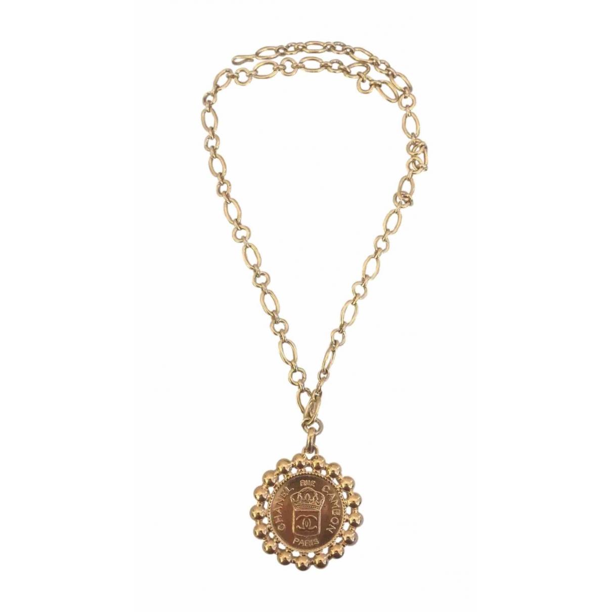 Chanel - Collier CC pour femme en or jaune - dore