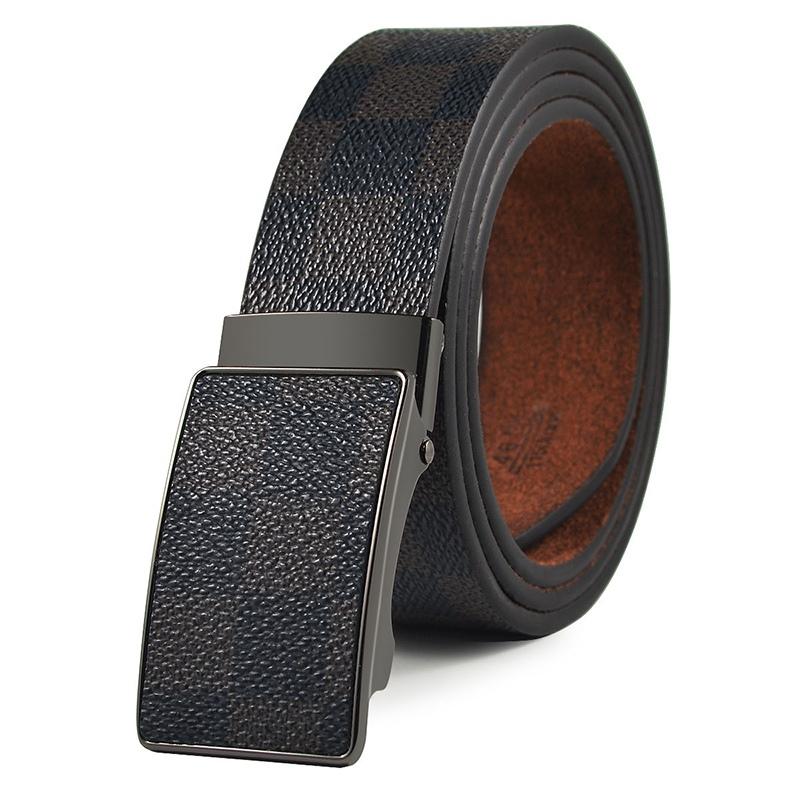 Ericdress Plaid Patterns Automatic Buckle Mens Belt