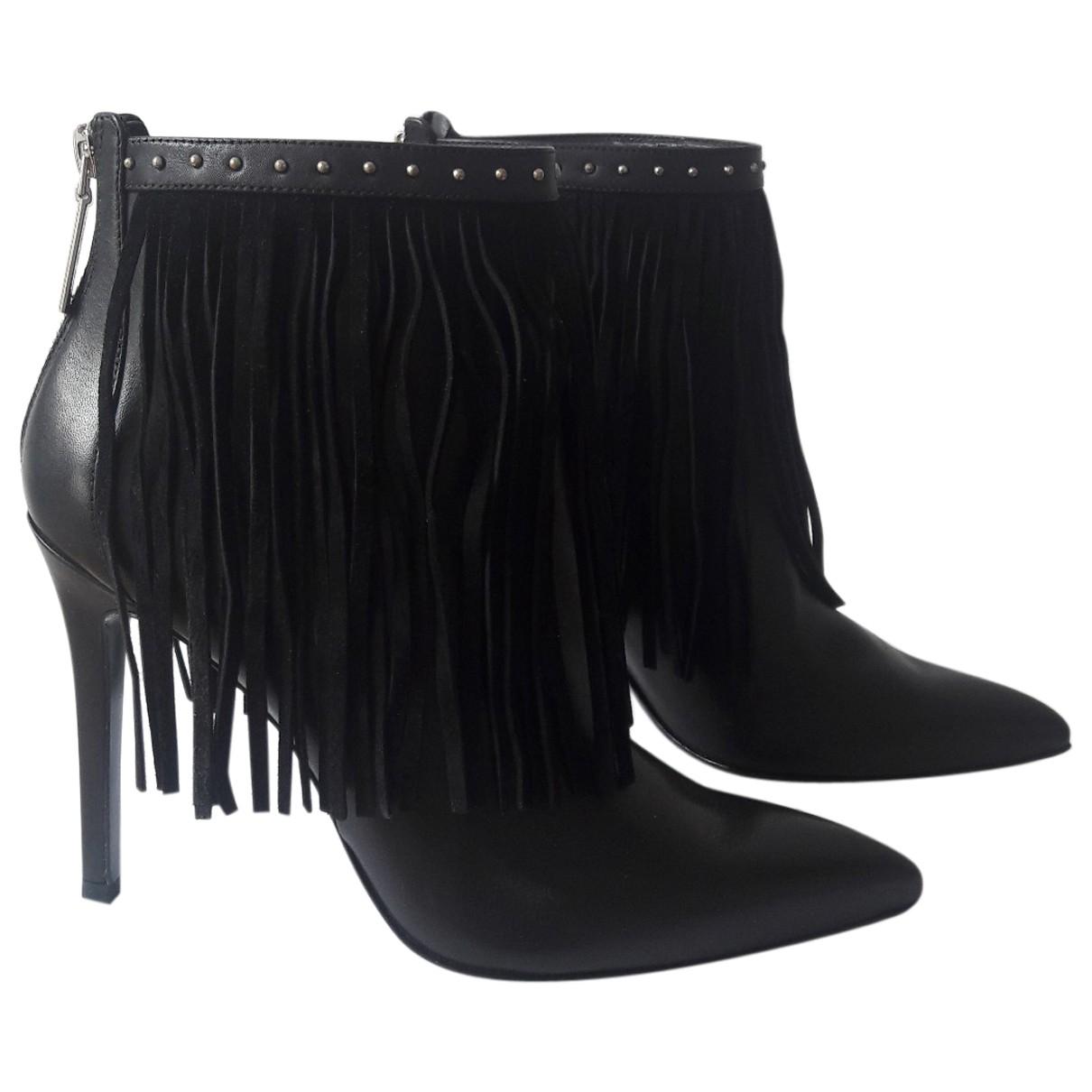 Balmain - Bottes   pour femme en cuir - noir