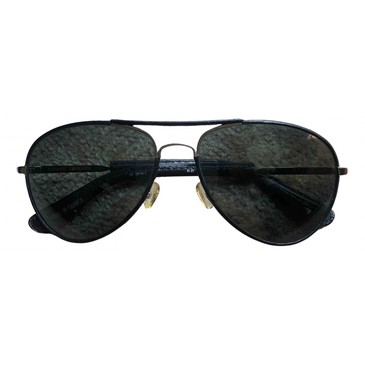 Linda Farrow \N Black Metal Sunglasses for Women \N