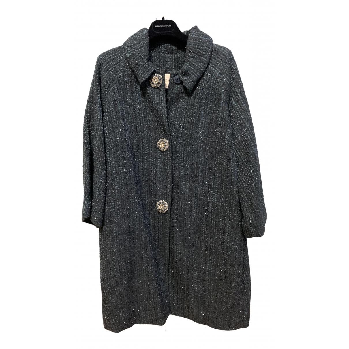 Semicouture - Manteau   pour femme en laine - gris