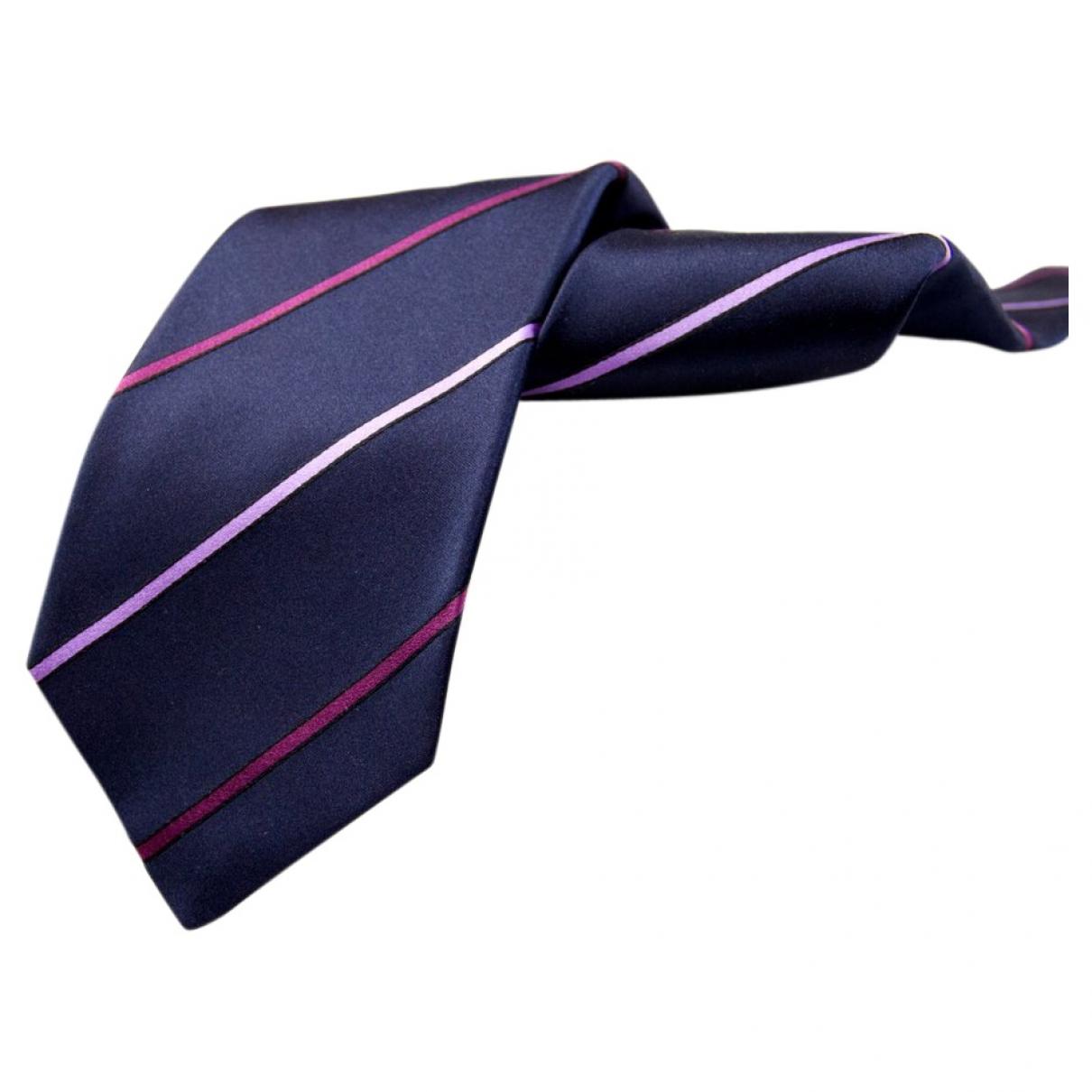 Kiton - Cravates   pour homme en soie - marine