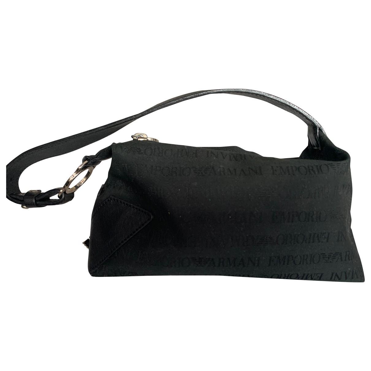 Emporio Armani \N Black Cloth Clutch bag for Women \N