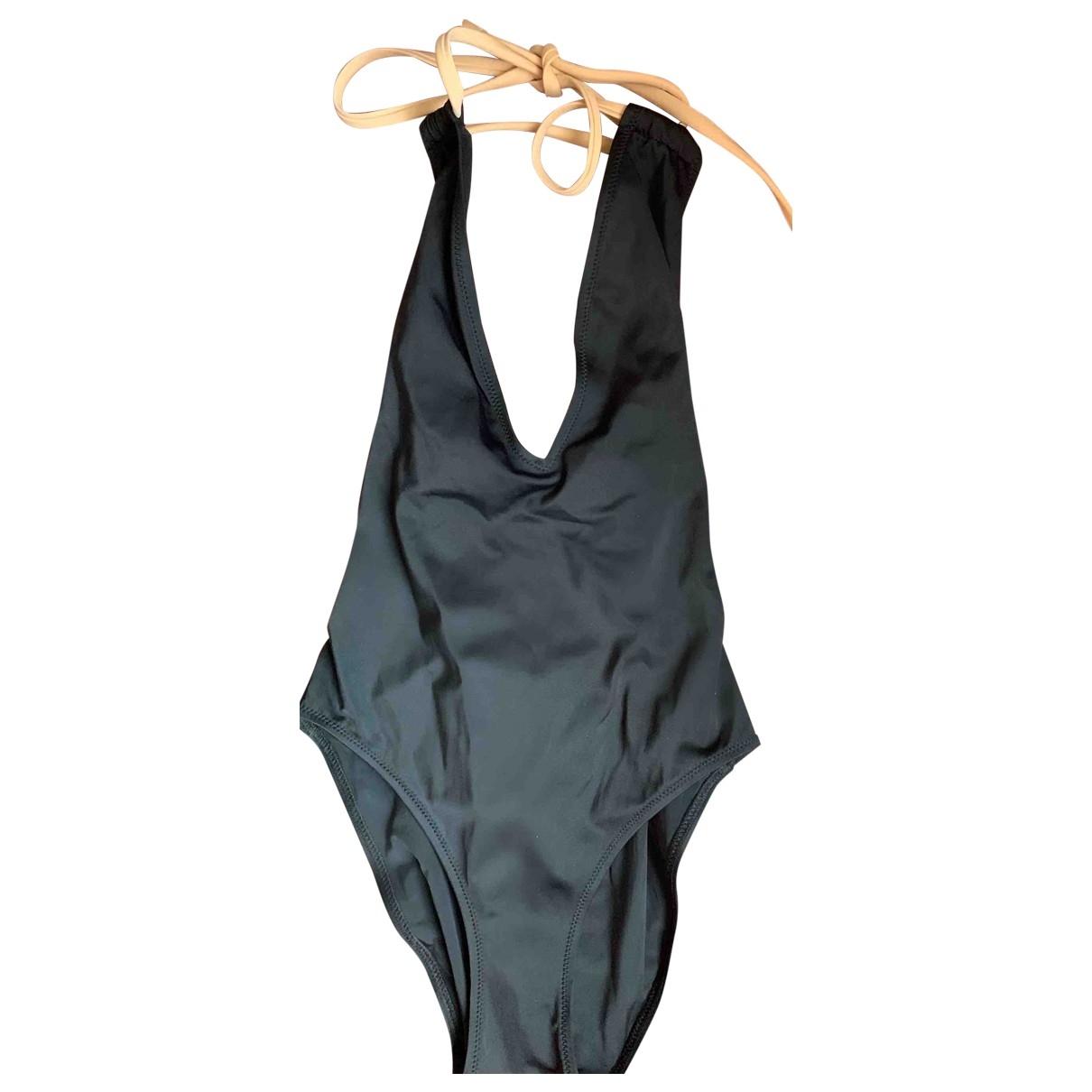 Solid & Striped \N Badeanzug in  Schwarz Lycra