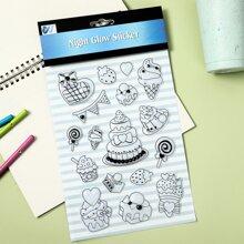 1sheet Dessert Print Luminous Sticker