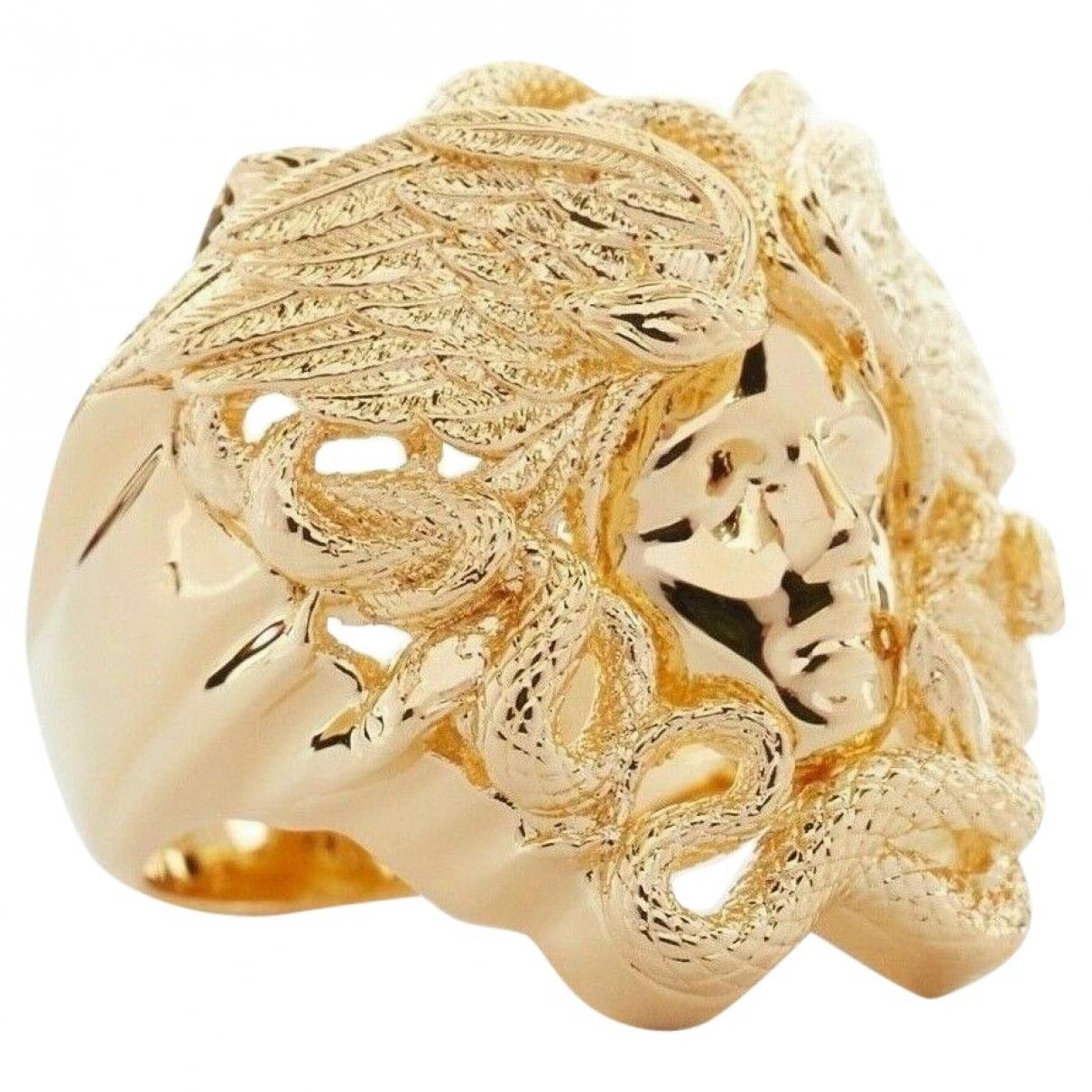 Versace - Bague   pour femme en metal - dore