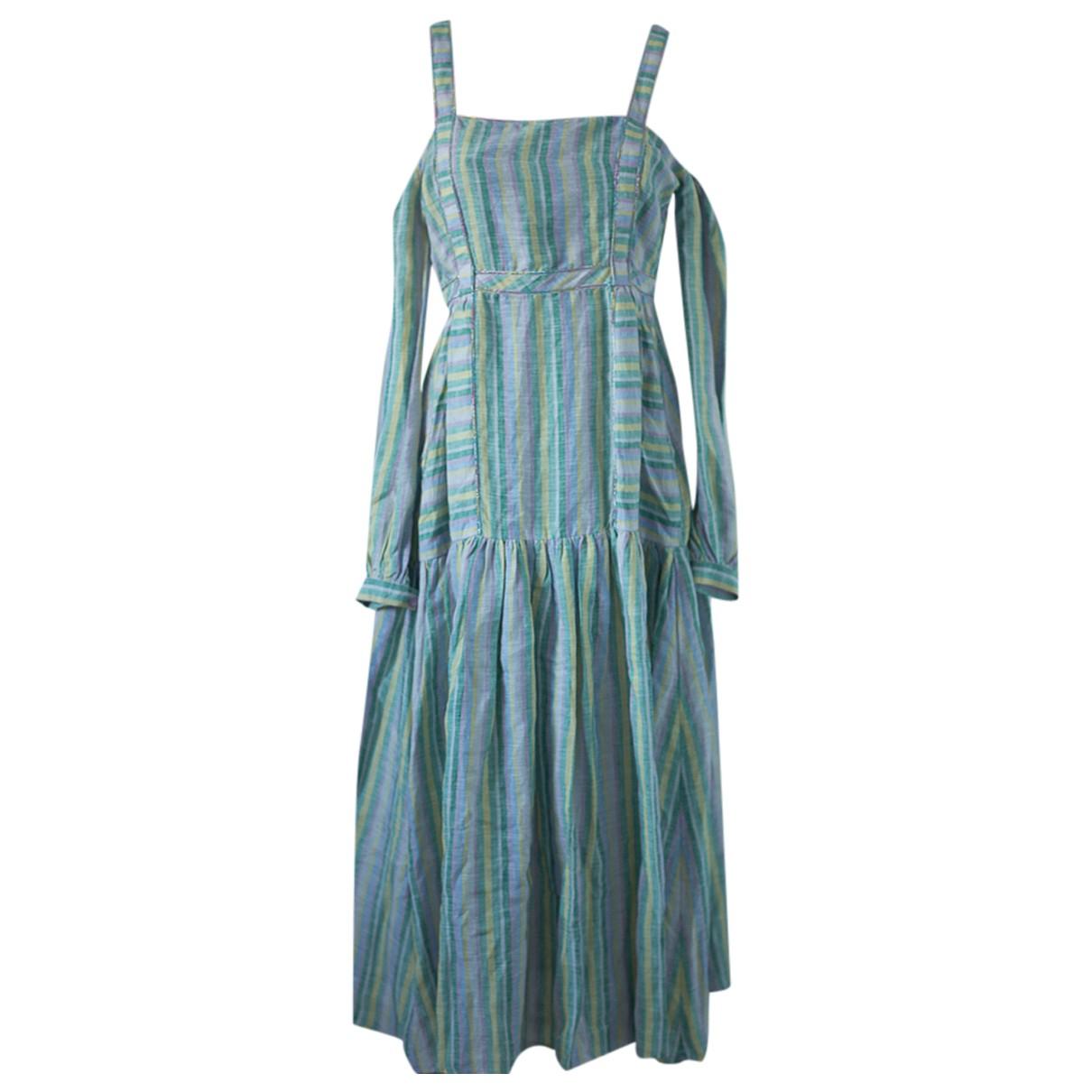 Gul Hurgel \N Kleid in  Bunt Leinen
