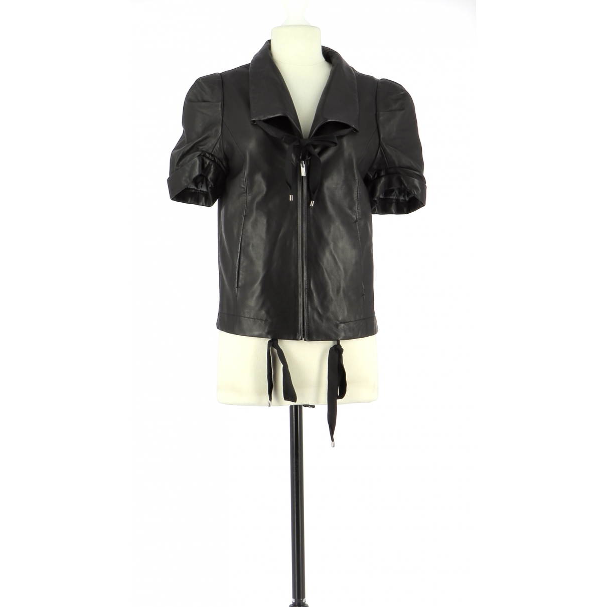 Bcbg Max Azria \N Black Leather jacket for Women 34 FR