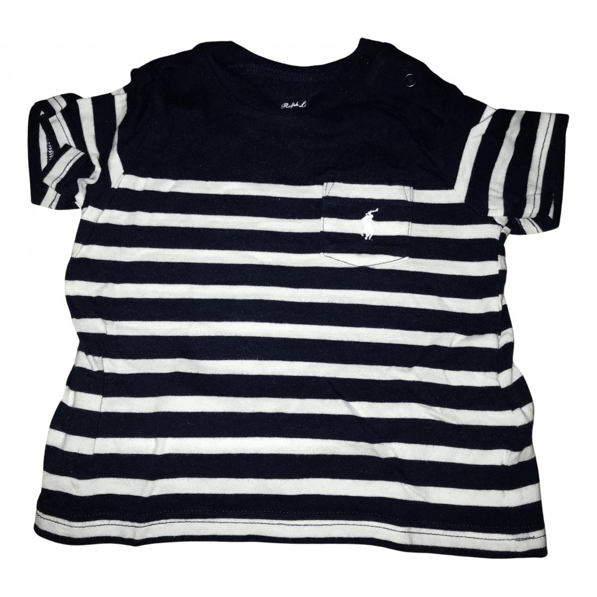 Ralph Lauren N Blue Cotton  top for Kids 6 months - up to 67cm FR