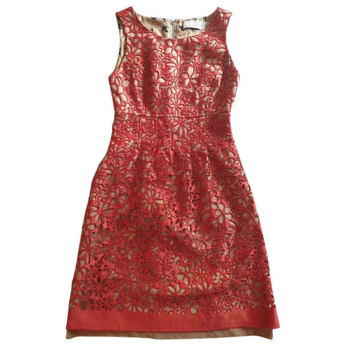 Lela Rose - Robe   pour femme en lin - orange