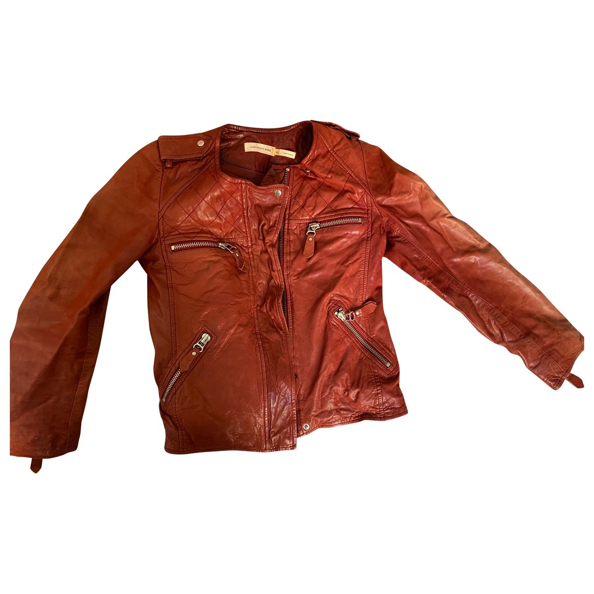 Isabel Marant Etoile \N Jacke in  Rot Leder