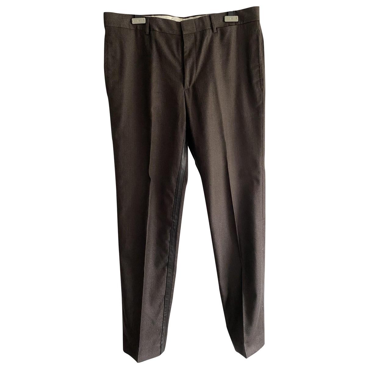 Hermes - Pantalon   pour homme en lin - marron